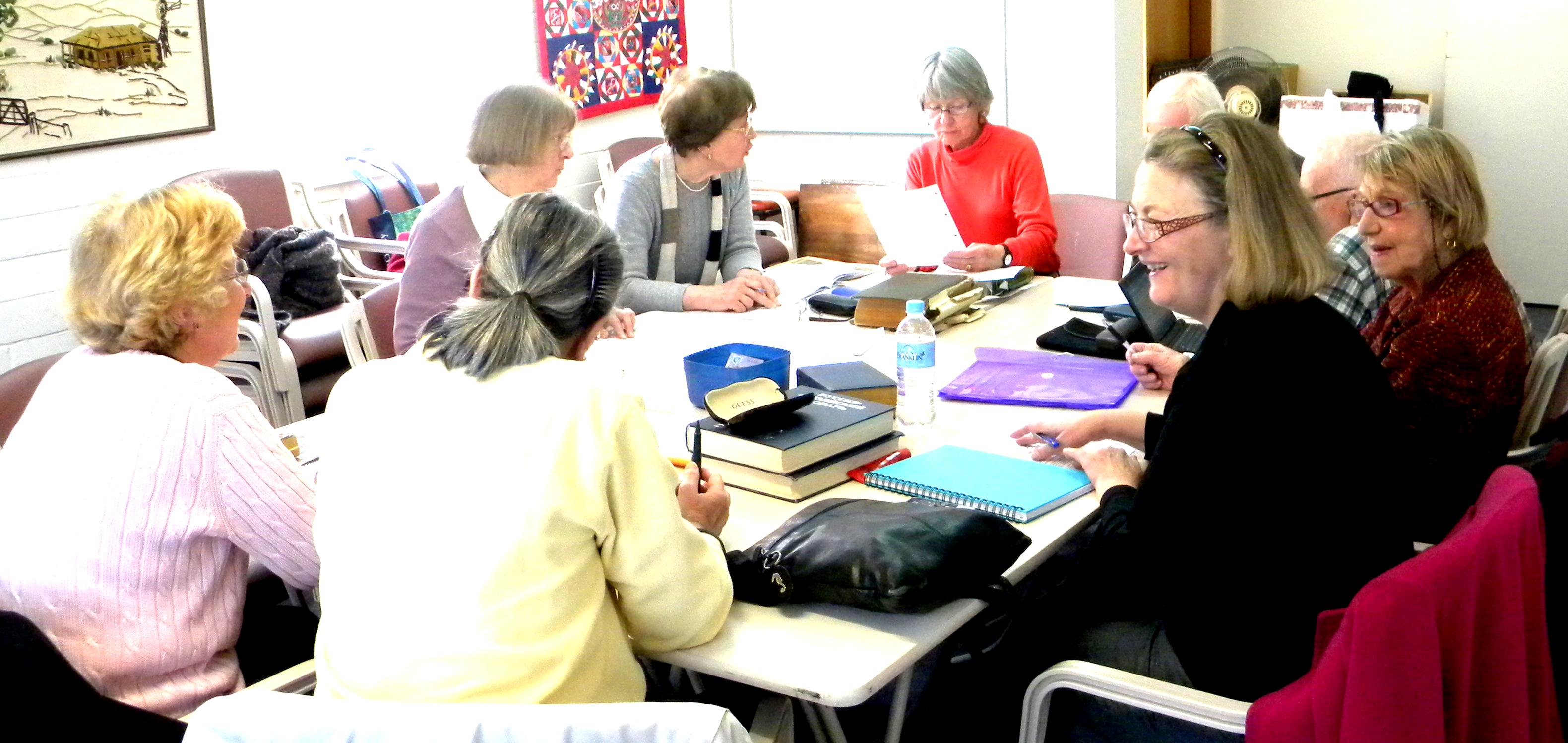 Members of the Canberra Seniors Centre taking part in the Russian Class.