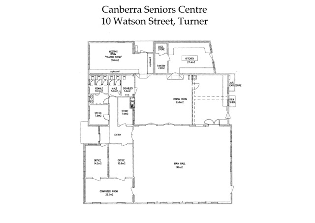 Site plan for the Canberra Seniors Centre