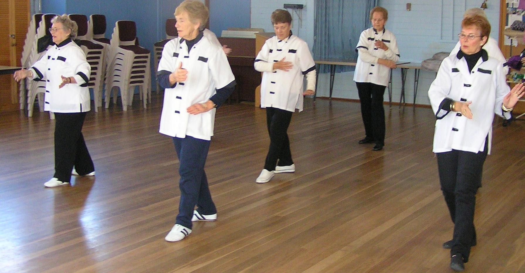 Members of the Canberra Seniors Centre taking part in Tai Chi.