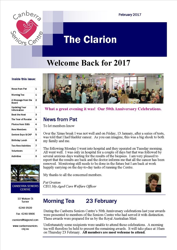 February 2017 Newsletter page1