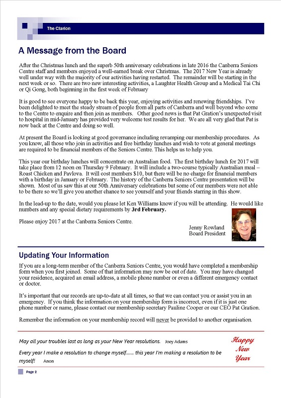 2017 February Newsletter page 2