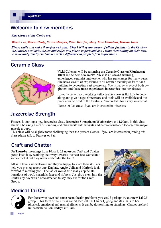 April 2017 Newsletter, page 5