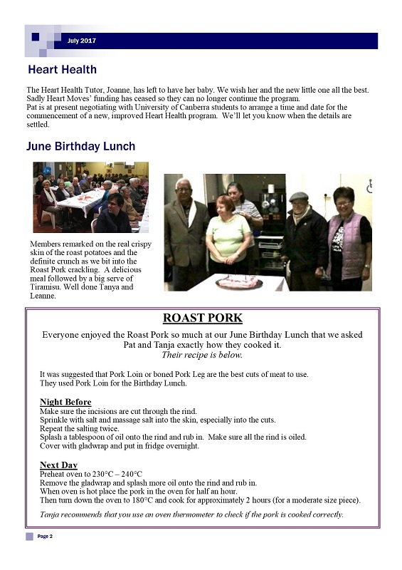 July 2017 Newsletter page 2