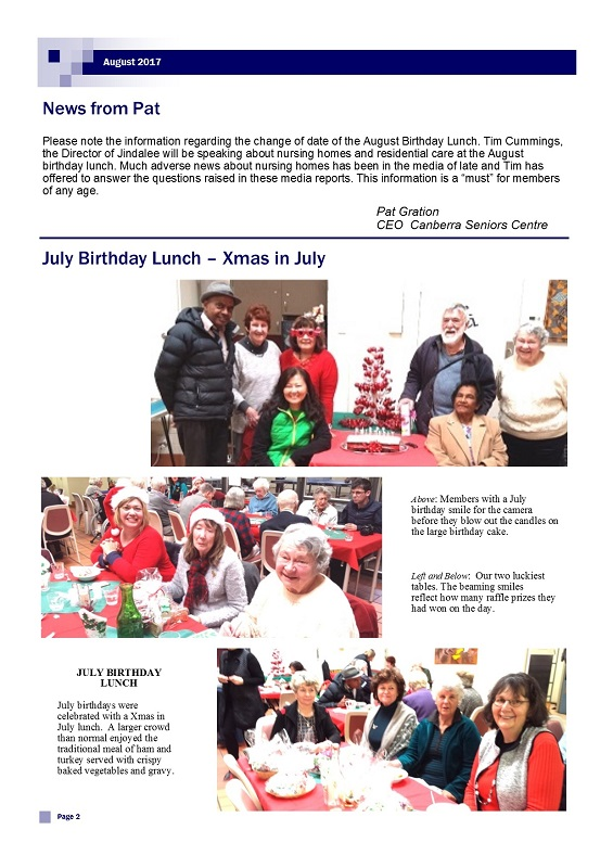 August 2017 Newsletter page 2