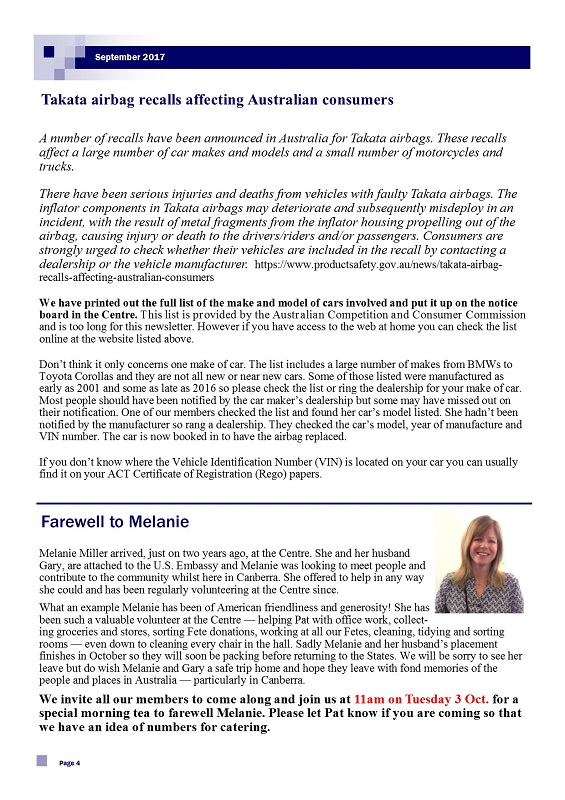 September 2017 Newsletter page 4
