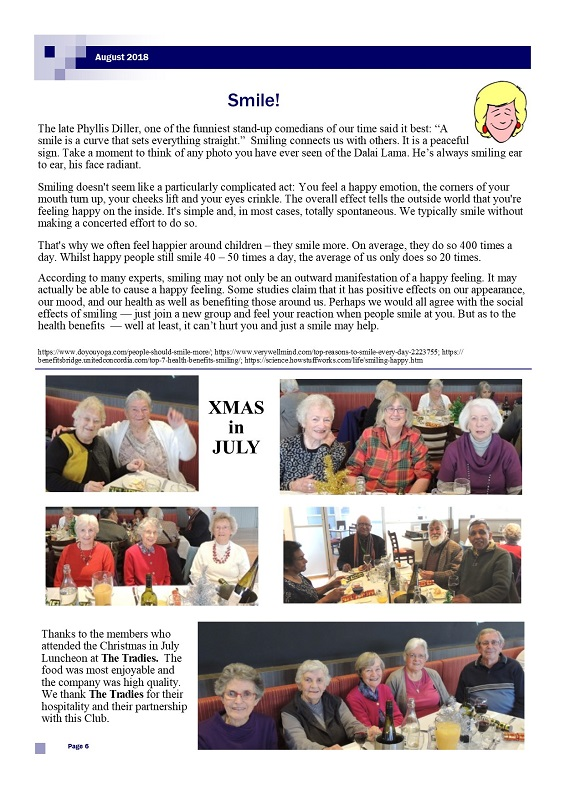 August 2018 Newsletter page 6